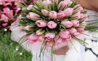 «Собираем вместе букет невесты из тюльпанов[