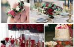 Свадьба в цвете марсала: оформление, букет, торт, наряды жениха и невесты