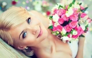 Свадебный макияж для голубых глаз (фото)