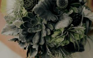 Зеленый свадебный букет, фото свадебных букетов зеленого цвета