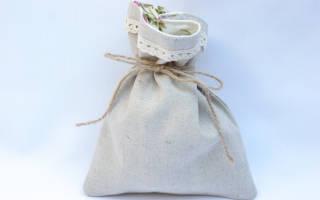 Мастер-класс: льняной мешочек своими руками